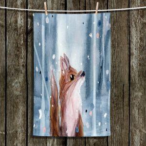 Unique Bathroom Towels   Dawn Derman - Red Fox Snow
