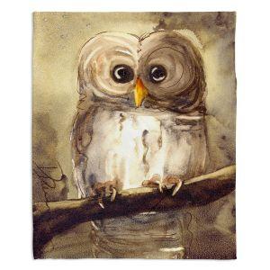 Decorative Fleece Throw Blankets | Dawn Derman - Redbird Cottage Owl