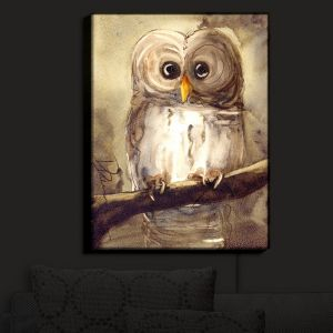 Nightlight Sconce Canvas Light | Dawn Derman - Redbird Cottage Owl