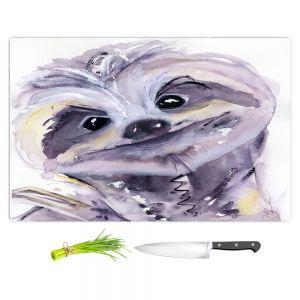 Artistic Kitchen Bar Cutting Boards | Dawn Derman - Sammy Sloth | sloth animal nature creature