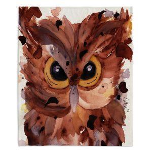 Artistic Sherpa Pile Blankets | Dawn Derman - Screech Owl