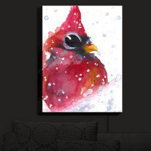 Nightlight Sconce Canvas Light | Dawn Derman - Snowy Cardinal