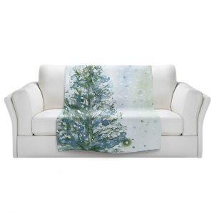 Artistic Sherpa Pile Blankets   Dawn Derman - Snowy Fir Tree   Nature