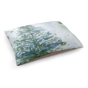 Decorative Dog Pet Beds | Dawn Derman - Snowy Fir Tree | Nature