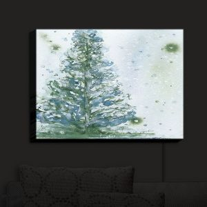 Nightlight Sconce Canvas Light | Dawn Derman - Snowy Fir Tree