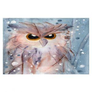 Decorative Floor Covering Mats   Dawn Derman - Snowy Owl   Wild Animals Winter