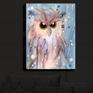 Nightlight Sconce Canvas Light | Dawn Derman - Snowy Owl | Wild Animals Winter
