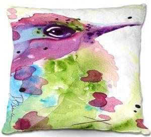 Decorative Outdoor Patio Pillow Cushion | Dawn Derman - Spring Dreaming Bird