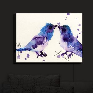 Nightlight Sconce Canvas Light | Dawn Derman - Spring Kiss Birds