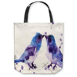 Unique Shoulder Bag Tote Bags | Dawn Derman Spring Kiss