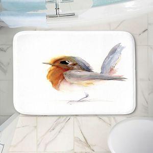 Decorative Bathroom Mats | Dawn Derman - Spring Step | Animals Birds Nature