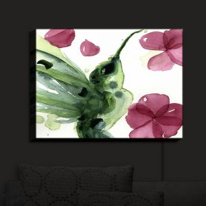 Nightlight Sconce Canvas Light | Dawn Derman - Summer Garden I