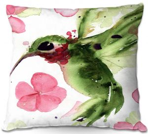 Unique Outdoor Pillow 16X16 from DiaNoche Designs by Dawn Derman - Summer Garden II