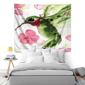 Artistic Wall Tapestry | Dawn Derman - Summer Garden II