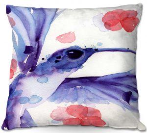 Decorative Outdoor Patio Pillow Cushion | Dawn Derman - Summer Garden III