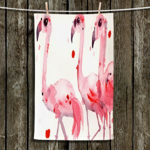 Unique Bathroom Towels | Dawn Derman - Three Flamingos