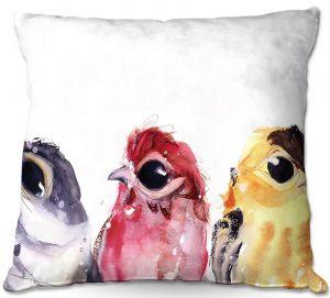 Throw Pillows Decorative Artistic | Dawn Derman - Three Little Birds | Nature