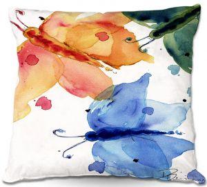 Decorative Outdoor Patio Pillow Cushion | Dawn Derman - Three Moths I