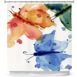 Premium Shower Curtains | Dawn Derman Three Moths I