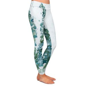 Casual Comfortable Leggings | Dawn Derman - Three Snowy Spruce Trees | Nature