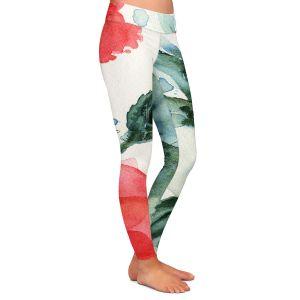 Casual Comfortable Leggings | Dawn Derman - Tropical Hummingbird