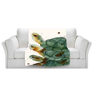 Artistic Sherpa Pile Blankets   Dawn Derman Turtle Crush