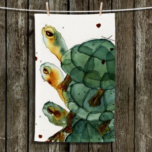Decorative Hand Towel from DiaNoche Designs by Dawn Derman - Turtle Crush