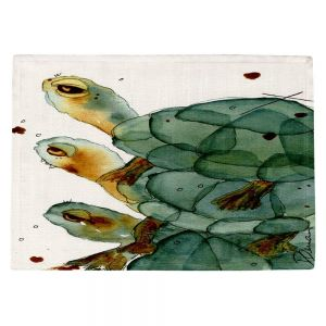 Decorative Kitchen Placemats 18x13 from DiaNoche Designs by Dawn Derman - Turtle Crush