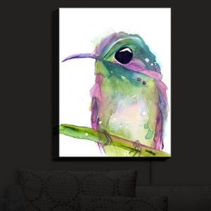 Nightlight Sconce Canvas Light | Dawn Derman - Violet Ear | bird animal nature creature