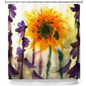 Premium Shower Curtains | Dawn Derman - Wildflowers