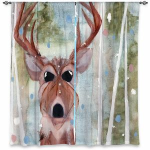 Decorative Window Treatments | Dawn Derman - Winter Buck | Wild Animals Winter