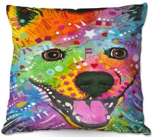 Decorative Outdoor Patio Pillow Cushion | Dean Russo - American Eskimo Dog 1