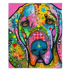 Decorative Fleece Throw Blankets   Dean Russo - Blood Hound Dog