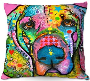 Decorative Outdoor Patio Pillow Cushion | Dean Russo - Blood Hound Dog
