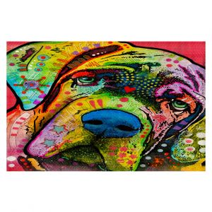 Decorative Area Rug 4 x 6 Ft from DiaNoche Designs by Dean Russo - Bull Mastiff I Dog