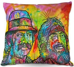 Decorative Outdoor Patio Pillow Cushion | Dean Russo - Cheech N Chong