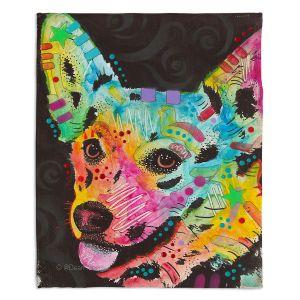 Decorative Fleece Throw Blankets | Dean Russo - Collie Dog 4