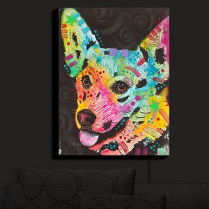 Nightlight Sconce Canvas Light | Dean Russo - Collie Dog 4 | Animals Dog