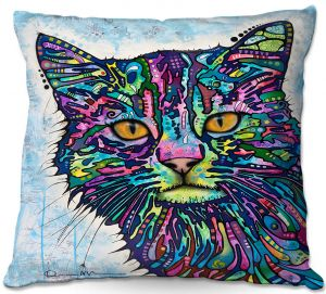 Decorative Outdoor Patio Pillow Cushion | Dean Russo - Diligence Cat
