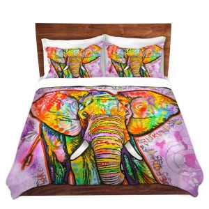 Unique Duvet Twill King ONLY from DiaNoche Designs by Dean Russo - Elephant