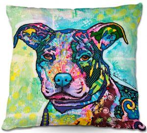 Decorative Outdoor Patio Pillow Cushion | Dean Russo - Entrancing Dog