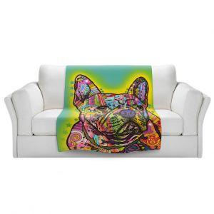 Artistic Sherpa Pile Blankets | Dean Russo - French Bulldog Dog 3