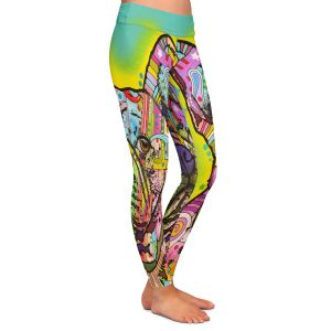 Unique Leggings Large from DiaNoche Designs by Dean Russo - French Bulldog Dog 3