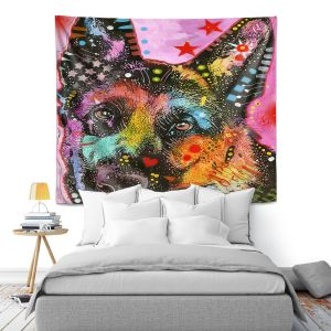 Artistic Wall Tapestry | Dean Russo - German Shepard Dog 25