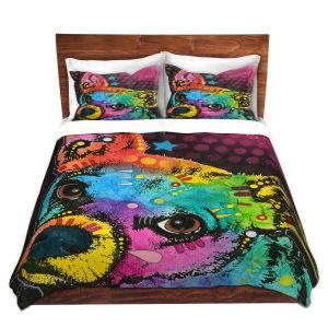 Artistic Duvet Covers and Shams Bedding | Dean Russo - Huh Chihuahua Dog