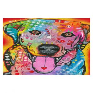 Decorative Area Rug 3 ft x 5 ft from DiaNoche Designs by Dean Russo - Loving Joy Labrador Retriever Dog