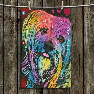Unique Hanging Tea Towels | Dean Russo - Maltese Dog 10 | Animals Dog