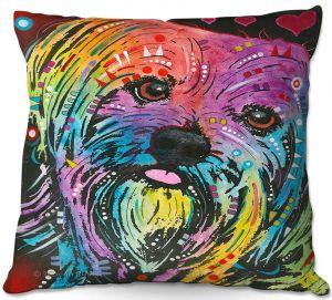 Throw Pillows Decorative Artistic | Dean Russo - Maltese Dog 10