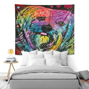 Artistic Wall Tapestry | Dean Russo - Maltese Dog 10
