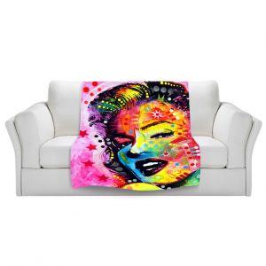 Artistic Sherpa Pile Blankets | Dean Russo - Marylin Monroe II